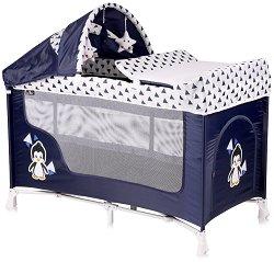 Сгъваемо бебешко легло на две нива - San Remo 2 Layers Plus 2019 - Комплект с аксесоари -