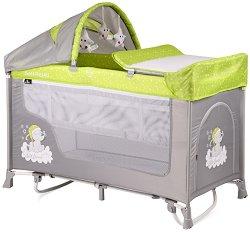 Сгъваемо бебешко легло на две нива - San Remo 2 Layers Rocker 2019 - С люлеещ механизъм - продукт