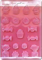 3D форма - Бонбони, сладки и кексчета - Размери 21 x 29.7 cm
