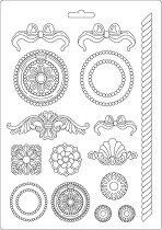 3D форма - Панделки и орнаменти - Размери 21 x 29.7 cm