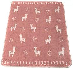 """Бебешко одеяло - Лама - Размери 70 x 90 cm от серията """"Juwel"""" -"""