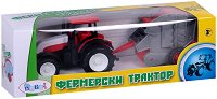 Трактор с преса за сено - Детска играчка -
