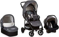 Бебешка количка 3 в 1 - Rapid 4X Plus Trio Set: Mickey Cool Vibes - С 4 колела - пъзел
