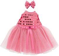 """Рокля с аксесоар - Розово - Комплект дрехи за плюшени играчки от серията """"Lucky Doggy"""" -"""