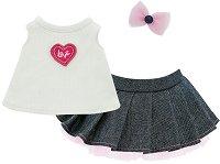 """Блуза, пола и аксесоар - Модна икона - Комплект дрехи за плюшени играчки от серията """"Lucky Doggy"""" -"""