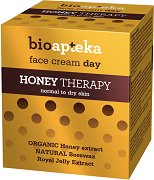 Bio Apteka Honey Therapy Face Day Cream - Дневен крем за лице с екстракт от мед за нормална до суха кожа - продукт