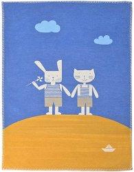 """Бебешко одеяло - Приятели - Размер 75 x 100 cm от серия """"Lena"""" -"""