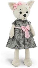 """Кученцето Лъки Лили - Сива рокля - Плюшена играчка от серията """"Lucky Doggy"""" -"""