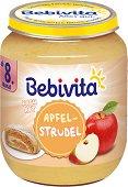 Bebivita - Плодов десерт от ябълков щрудел - Бурканче от 160 g за бебета над 8 месеца - продукт