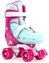 Детски ролкови кънки - SFR Hurricane II Adjustable Pink -
