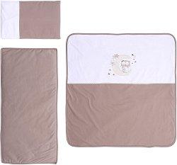 Ватиран спален комплект за бебешка количка - ZaZa - 4 части -