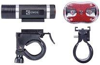 Emos P3920 - Комплект LED фар и стоп за велосипед