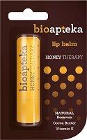 Bio Apteka Honey Therapy Lip Balm - Балсам зa устни с пчелен восък, масло от какао и витамин E -