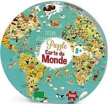 Карта на света - Пъзел от Оливер Хюет (Oliver Huette) -