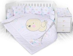 Спален комплект за бебешко креватче - Chick - 5 части -