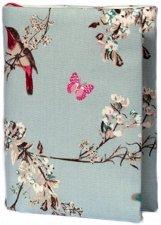 Ръчно изработена текстилна подвързия за книга - Birds -