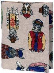 Ръчно изработена текстилна подвързия за книга - Dogs -