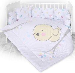 Спален комплект за бебешко креватче - Chick - 4 части с обиколник -