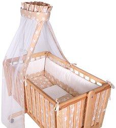 Спален комплект за детска люлка - Eva - 7 части - продукт