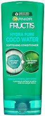 Garnier Fructis Coconut Water Conditioner - Балсам за коса с кокосова вода за мазни корени и сухи краища - продукт