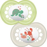 Залъгалки от силикон с ортодонтична форма - Nature - Комплект от 2 броя за бебета над 6 месеца - чаша