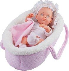 "Бебе момиченце - кукла с кошче - От серията ""Paola Reina: Mini Pikolines"" - кукла"