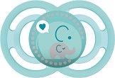 Залъгалка от силикон с ортодонтична форма - Perfect - За бебета над 6 месеца -
