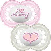 Залъгалки от силикон с ортодонтична форма - Style I Love - Комплект от 2 броя за бебета над 6 месеца -