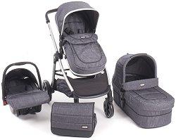 Бебешка количка 3 в 1 - Maui - С 4 колела -