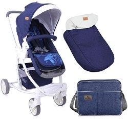 Комбинирана бебешка количка - Aster - С 4 колела -