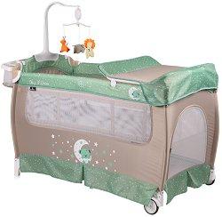 Сгъваемо бебешко легло на две нива - Sleep N Dream 2019 - Комплект с аксесоари -