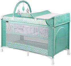 Сгъваемо бебешко легло на две нива - Verona 2 Layers Plus 2019 - Комплект с аксесоари -