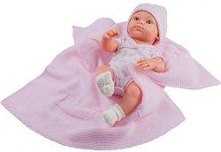 """Кукла бебе момиченце с одеяло - От серията """"Paola Reina: Mini Pikolines"""" - кукла"""