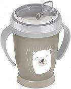 Неразливаща се чаша с мек накрайник и дръжки - Buddy Bear 210 ml - За бебета над 9 месеца -