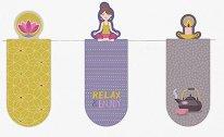 Мини магнитни разделители за книга - Relax and Enjoy - Комплект от 3 броя -