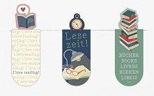 Мини магнитни разделители за книга - Време за четене - Комплект от 3 броя -