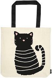 Текстилна чанта за книги - Мяу -