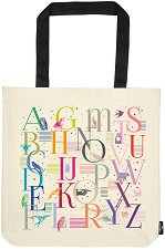 Текстилна чанта за книги - Alphabet -