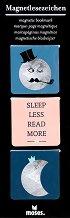 Магнитни разделители за книги - Sleep Less, Read More - Комплект от 3 броя -
