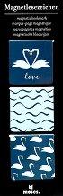 Магнитни разделители за книги - Лебед - Комплект от 3 броя -