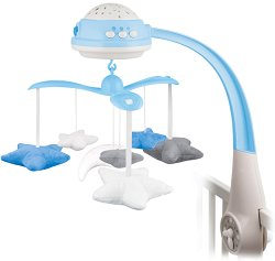 Музикална въртележка  - Stars - Играчка за бебешко креватче -