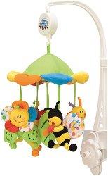 Музикална въртележка - Colourful meadow - Играчка за бебешко креватче -