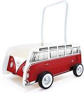 Количка за бутане - Volkswagen T1 - Дървена играчка - играчка