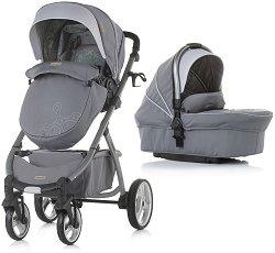 Бебешка количка 2 в 1 - Up&Down 2019 - С 4 колела -