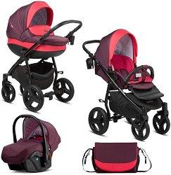Бебешка количка 3 в 1 - Bella - С 4 колела -