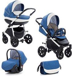 Бебешка количка 3 в 1 - Forester - С 4 колела -