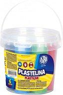 Пластилин - Комплект от 6 цвята в кофичка