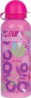 Детска алуминиева бутилка - Gabol: Linda 500 ml - несесер