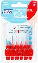 TePe Interdental Brush Original - Size 2 - Интердентални четки за зъби с размер 0.5 mm - комплект от 6 броя -