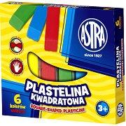 Квадратен пластилин - Комплект от 6, 10, 12 или 18 цвята